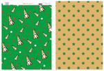 Karton A4 250g 2-str.Mikołaje zielono/złoty w sklepie internetowym papierA4.pl
