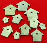 Ozdoby drewniane samoprzylepne szare - domek w sklepie internetowym papierA4.pl