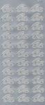 Sticker srebrny 20710 - obrączki x1 w sklepie internetowym papierA4.pl
