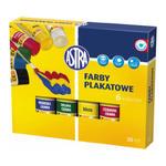 Farby plakatowe Astra - 6 kolorów w tubach x1 w sklepie internetowym papierA4.pl