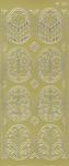 Sticker złoty 01832 - pisanki ażurowe x1 w sklepie internetowym papierA4.pl