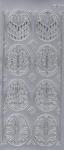 Sticker srebrny 01832 - pisanki ażurowe x1 w sklepie internetowym papierA4.pl