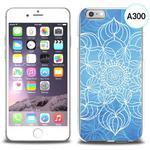 Etui silikonowe z nadrukiem iPhone 6 - szkicowany niebieski kwiat w sklepie internetowym 4kom.pl