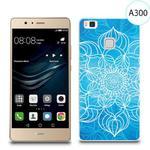 Etui silikonowe z nadrukiem do Huawei P9 lite - szkicowany niebieski kwiat w sklepie internetowym 4kom.pl