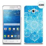 Etui silikonowe z nadrukiem Samsung Galaxy Grand Prime - szkicowany niebieski kwiat w sklepie internetowym 4kom.pl