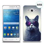 Etui silikonowe z nadrukiem Samsung Galaxy Grand Prime - kot w okularach w sklepie internetowym 4kom.pl