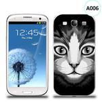 Etui silikonowe z nadrukiem Samsung Galaxy S3 - czarno biały kot w sklepie internetowym 4kom.pl