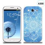 Etui silikonowe z nadrukiem Samsung Galaxy S3 - szkicowany niebieski kwiat w sklepie internetowym 4kom.pl