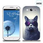 Etui silikonowe z nadrukiem Samsung Galaxy S3 - kot w okularach w sklepie internetowym 4kom.pl