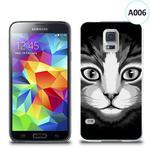Etui silikonowe z nadrukiem Samsung Galaxy S5 - czarno biały kot w sklepie internetowym 4kom.pl