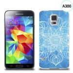 Etui silikonowe z nadrukiem Samsung Galaxy S5 - szkicowany niebieski kwiat w sklepie internetowym 4kom.pl