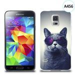 Etui silikonowe z nadrukiem Samsung Galaxy S5 - kot w okularach w sklepie internetowym 4kom.pl