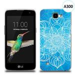 Etui silikonowe z nadrukiem LG K4 - szkicowany niebieski kwiat w sklepie internetowym 4kom.pl