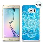Etui silikonowe z nadrukiem Samsung Galaxy S6 Edge Plus - szkicowany niebieski kwiat w sklepie internetowym 4kom.pl