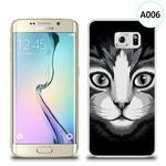 Etui silikonowe z nadrukiem Samsung Galaxy S6 Edge - czarno biały kot w sklepie internetowym 4kom.pl