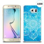 Etui silikonowe z nadrukiem Samsung Galaxy S6 Edge - szkicowany niebieski kwiat w sklepie internetowym 4kom.pl
