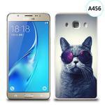 Etui silikonowe z nadrukiem Samsung Galaxy J5 2016 - kot w okularach w sklepie internetowym 4kom.pl