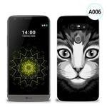 Etui silikonowe z nadrukiem LG G5 - czarno biały kot w sklepie internetowym 4kom.pl