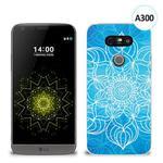 Etui silikonowe z nadrukiem LG G5 - szkicowany niebieski kwiat w sklepie internetowym 4kom.pl