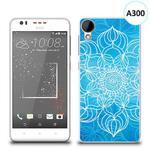 Etui silikonowe z nadrukiem HTC DESIRE 825 - szkicowany niebieski kwiat w sklepie internetowym 4kom.pl