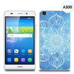 Etui silikonowe z nadrukiem Huawei Y6 - szkicowany niebieski kwiat w sklepie internetowym 4kom.pl