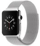 """SREBRNY Pasek """"Milanese Loop"""" pleciony z magnetycznym zapięciem do Apple Watch 38MM - Srebrny w sklepie internetowym 4kom.pl"""