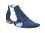Obuwie męskie - Sztyblety - 362/21Blue jeans denim w sklepie internetowym Comodoesano.com.pl