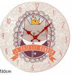 Drewniany zegar ścienny 30cm Król Kot w sklepie internetowym Regdos.com.pl