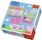 Trefl puzzle 2w1 + memos Świnka Peppa 90600 w sklepie internetowym Regdos.com.pl