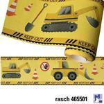 Pasek dekoracyjny Koparki bord Maszyny Budowlane 465501 KIDS & TEENS Rasch w sklepie internetowym Regdos.com.pl