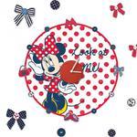 Zegar naklejka Myszka Mini Minnie Mouse Disney w sklepie internetowym Regdos.com.pl