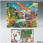 Zestaw kreatywny Dino World 8478 Top Model Dinozaury kolorowanka w sklepie internetowym Regdos.com.pl