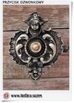Przycisk retro do dzwonka w stylu Barokowym - Mosiężny uniwersalny w sklepie internetowym Artdeco.sklep.pl