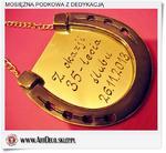 35 Lecie Ślubu, prezent symboliczna pamiątka - Mosiężna podkowa z odręczną dedykacją w sklepie internetowym Artdeco.sklep.pl