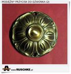 Ładny przycisk retro do dzwonka mosiężny - Polski producent (2) w sklepie internetowym Artdeco.sklep.pl