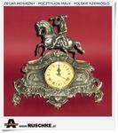Zegar kominkowy, bufetowy Mosiężny pocztylion Prezent dla myśliwego w sklepie internetowym Artdeco.sklep.pl