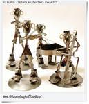 KWARTET Zespół muzyczny cały w komplecie Metalowe figurki XL w sklepie internetowym Artdeco.sklep.pl