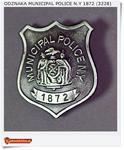 Odznaka Miejskiego Policjanta - Municipal Police N.Y 1872 (3228) w sklepie internetowym Artdeco.sklep.pl