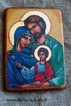 Ikona ręcznie pisana Święta rodzina (ikona podróżna) w sklepie internetowym Artdeco.sklep.pl