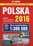 Atlas samochodowy Polska 2016 1:300 000 w sklepie internetowym Ksiazki-medyczne.eu
