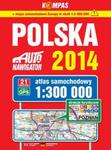 Polska 2014 Atlas samochodowy 1:300 000 w sklepie internetowym Ksiazki-medyczne.eu