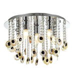 Italux plafon lampa sufitowa Kanyo MA04927CA-006 chrom muszle kryształy 47 cm / 24h w sklepie internetowym Elektryczny.com