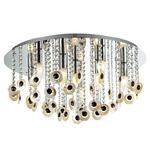 Italux plafon lampa sufitowa Kanyo MA04927CA-009 chrom muszle kryształy 62 cm w sklepie internetowym Elektryczny.com