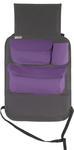 Organizer samochodowy za fotel 2w1 z uchwytem na tablet - szary z fioletem w sklepie internetowym GoTravels