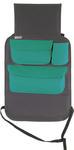 Organizer samochodowy za fotel 2w1 z uchwytem na tablet - szary z turkusem w sklepie internetowym GoTravels