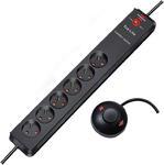 Przedłużacz listwowy listwa 6 gniazd 2m wyłącznik nożny niemiecka marka Przedłużacz Eco-Line Comfort Switch >6 gniazd 2m H05VV-F 3G1,5 w sklepie internetowym Electra