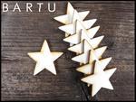 Drewniana gwiazdka 4x4cm 10 szt. w sklepie internetowym MebleBartu