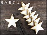 Drewniana gwiazdka 4x4cm zawieszka 10 szt. w sklepie internetowym MebleBartu