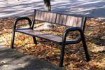 Ławka parkowa stalowa SPARTAN WPC (ławka miejska) w sklepie internetowym Architekturaparkowa.pl