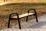 Ławka parkowa stalowa SPARTAN bez oparcia Prestige (ławki miejskie) w sklepie internetowym Architekturaparkowa.pl